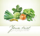 picture of recipe card  - Design template with group of vegetables - JPG