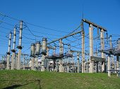 stock photo of substation  - high - JPG