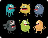 stock photo of microbes  - Cute monsters set - JPG