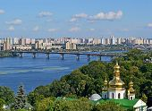 stock photo of kiev  - Kiev Pechersk Lavra cityscape - JPG
