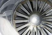 pic of rotor plane  - Extreme closeup of an airplane turbine - JPG