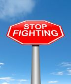 pic of stop fighting  - Illustration depicting a sign with a stop fighting concept - JPG