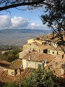 Medieval Italian Village poster
