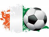 Постер, плакат: Ирландия футбол гранж дизайн