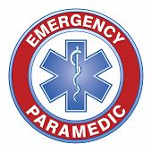 picture of paramedic  - Illustration of an emergency paramedic design with star of life medical symbol - JPG