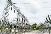 image of electric station  - Power station for making the electric energy - JPG