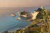 Cape Drastis at Corfu islandin Greece