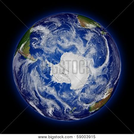 Southern Hemisphere On Planet Earth