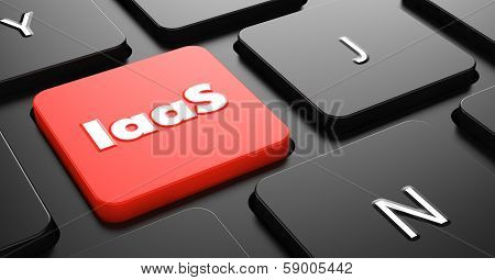 IAAS Concept on Red Keyboard Button.