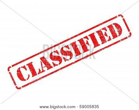 Classified -  Red Rubber Stamp.