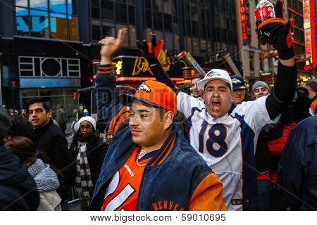 Denver Broncos fans join the festivities