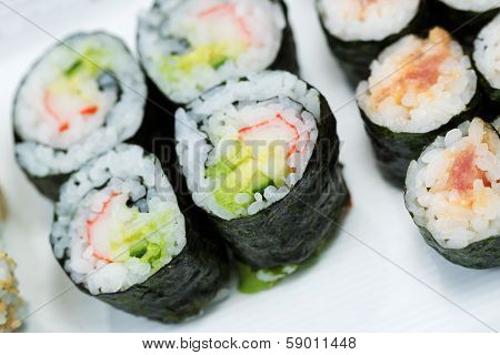 Sushi Rolls In Plate