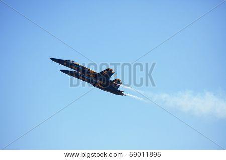 MCAS MIRAMAR, CA - OCTOBER 3: Blue Angels squadron Air Show October 3, 2009 on MCAS Miramar, CA