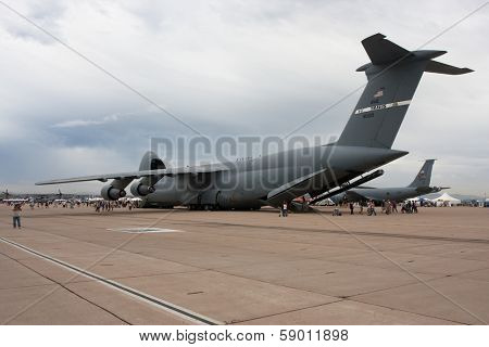 MCAS MIRAMAR, CA - OCTOBER 3: Huge military Jet,  Air Show October 3, 2009 on MCAS Miramar, CA
