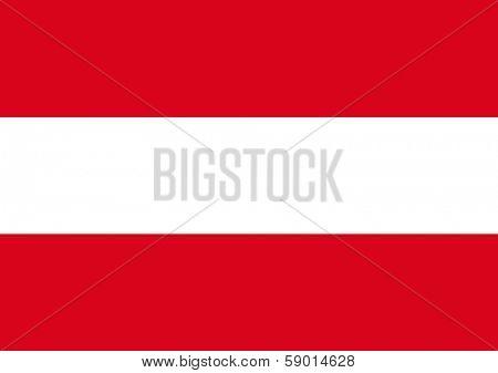 Official Flag of Austria, illustration