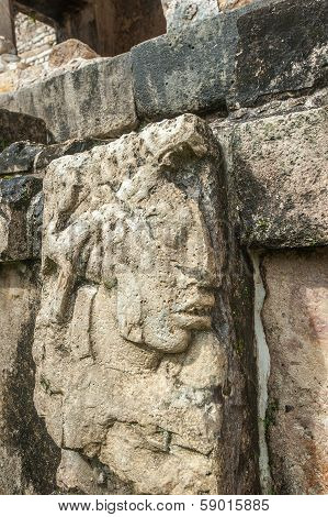 Bas-reliefs At Ruins Of Palenque, Mexico