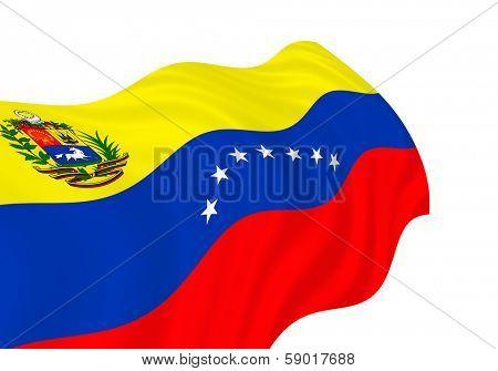 Illustration of Venezuela  flag waving in the wind