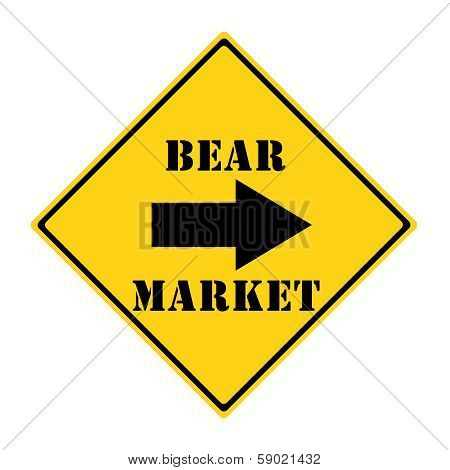 Bear Market This Way Sign
