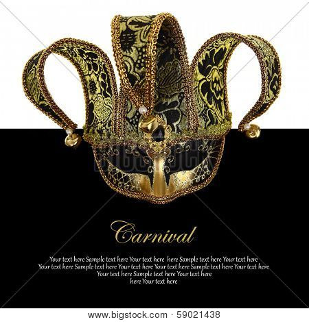 Vintage venetian carnival mask with copy-space