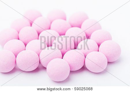 Purple bubblegum isolated on white