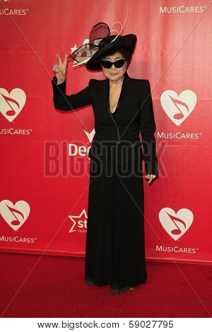 LOS ANGELES - JAN 24:  Yoko Ono at the 2014 MusiCares Person of the Year Gala in honor of Carole King at Los Angeles Convention Center on January 24, 2014 in Los Angeles, CA