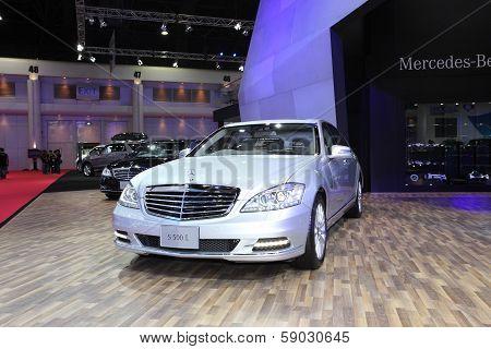 Bangkok - March 26: Mercedes-benz S 500 L Car On Display At The 34Th Bangkok International Motor Sho