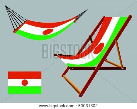 Niger Hammock And Deck Chair Set