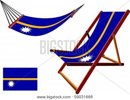 Nauru Hammock And Deck Chair Set