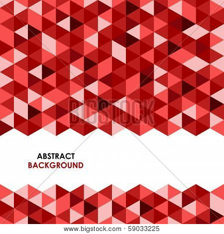 Abstract red triangle background vector