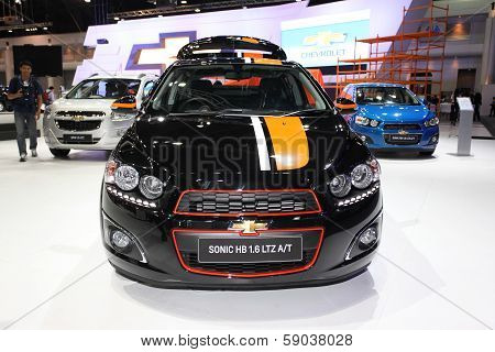 Nonthaburi - November 28:chevrolet Sonic Hb 1.6 Car On Display At The 30Th Thailand International Mo