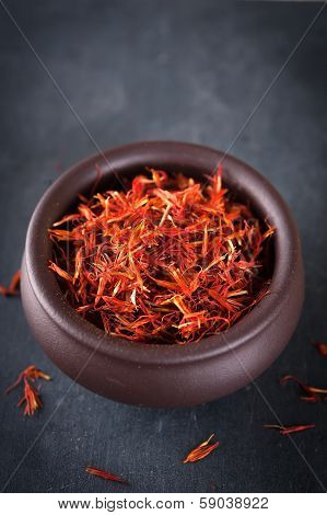 Safflower Or Thistle Dye