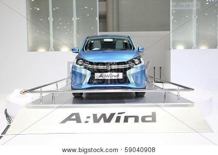 Nonthaburi - November 28: Suzuki A-wind Car On Display At The 30Th Thailand International Motor Expo