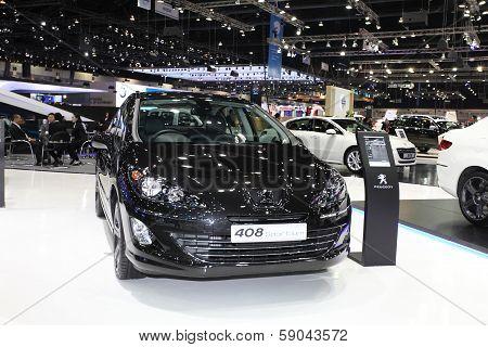 Nonthaburi - November 28: Peugeot 408 Sportium Car On Display At The 30Th Thailand International Mot