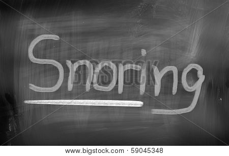 Snoring Concept