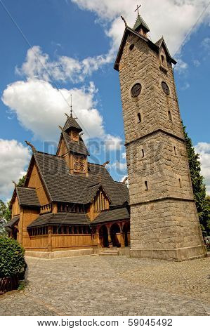 Vang stave church in Poland.