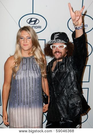 BEVERLY HILLS, CA. - JANUARY 25: Victoria Azarenka & Red Foo arrive at the Clive Davis & The Recording Academy annual Pre-GRAMMY Gala on January 25th 2014 at the Beverly Hilton in Beverly Hills.