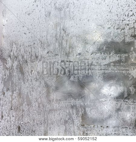 Texture of  frosted glass. Abstract winter textured background.