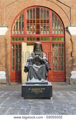 Krasnoyarsk, Russia - Nov.09, 2012: Archbishop Luka Monument in Nov.09, 2012 in Krasnoyarsk, Russia