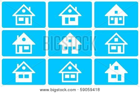 Collection of the different house illustration (not vector)