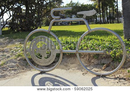 Bicycle Shaped Bike Rack