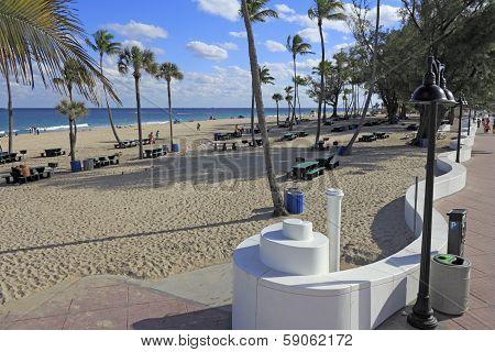 Beach Picnic Table Area