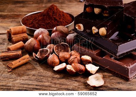 chocolate with some ingredients