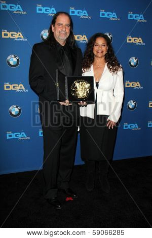 LOS ANGELES - JAN 25:  Glenn Weiss, Debbie Allen at the 66th Annual Directors Guild of America Awards - Press Room at Century Plaza Hotel on January 25, 2014 in Century City, CA