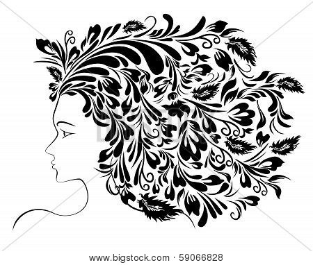 Girl Floral Hairstyle