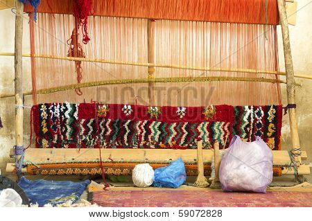 Traditional loom in Morocco, Africa