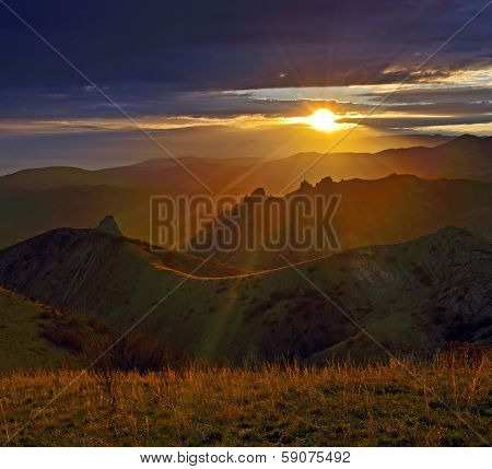 Traveling On The Crimean Mountains