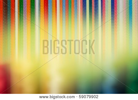 Colorful background with soft textiles rainbow-colored vertical stripes