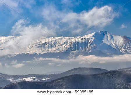 Winter landscape mountain
