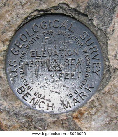 Grand Teton Bench Mark