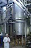 JUVASKULA, FINLAND - DECEMBER 18: Valio factory. Milk production. On February 14, 2013 in Jyvaskyla,